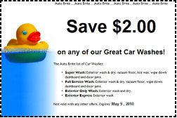 coupon for carwashes